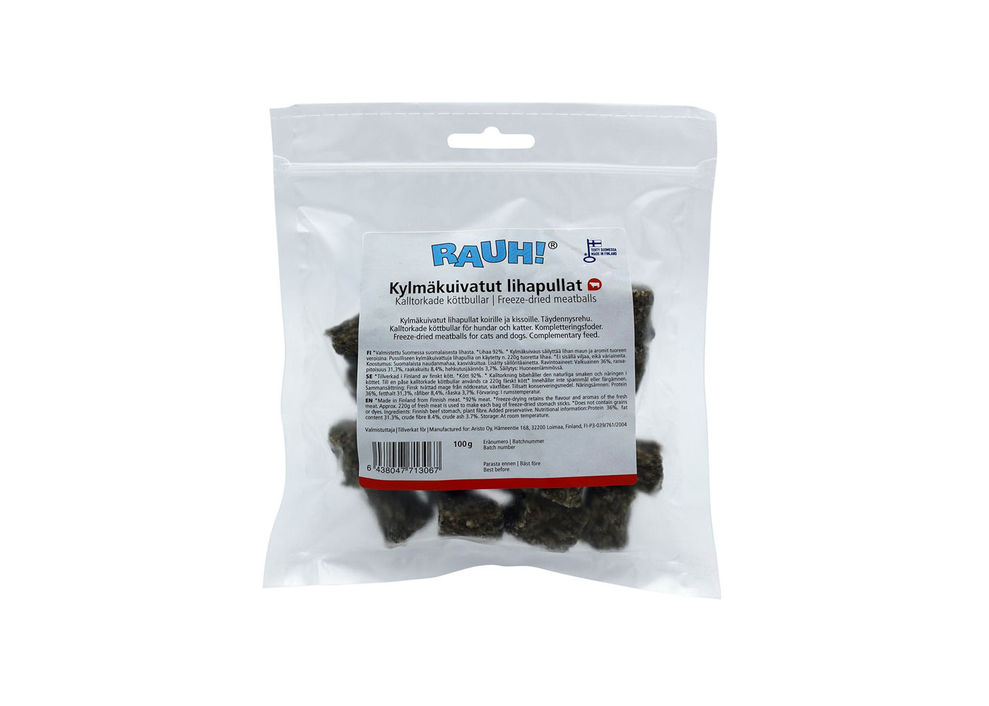 RAUH Freeze-dried Meatballs 100 g